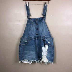 Hot kiss denim overalls